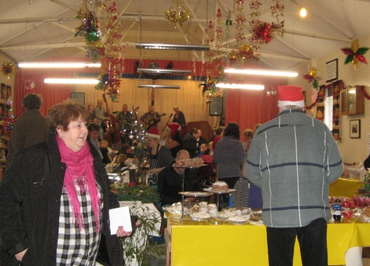 Not just for Christmas: there is a market in Llansawel village hall on the third Saturday of every month, 10am to 1pm