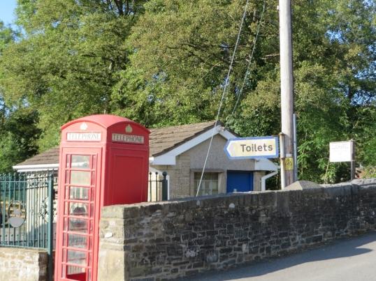 Llansawel's convenient toilets, handily signposted